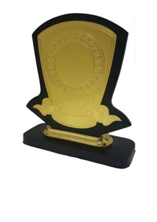 Wooden Plaque with Golden Plate for Bravery