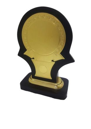 Wooden Plaque with Golden Plate for Police Officers