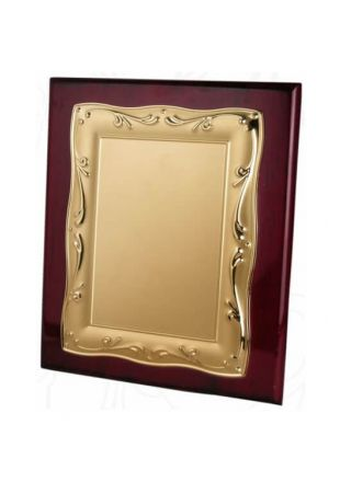 Golden Plate Engraved Wooden Plaque