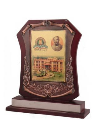 Embroidered Bronze Casting Rosewood finish Plaque