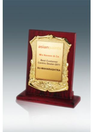 Desktop Gold Engraving Plaque