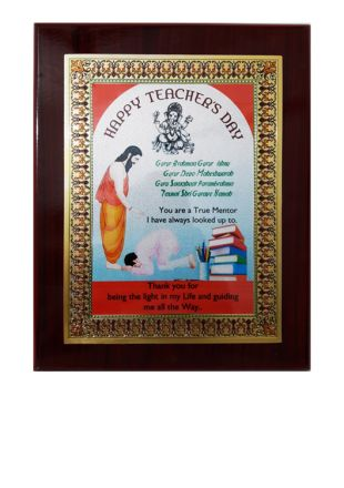 Wooden Plaque for the occasion of Teacher's Day