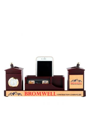 Multi Functional Wooden Desk Organizer Table Top Gift