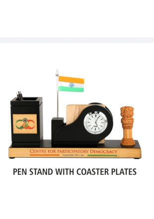 Pen Stand with Coaster Plates and Watch Table Top