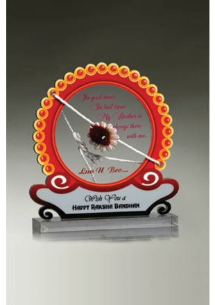 Raksha Bandhan Plaque in Traditional Colors