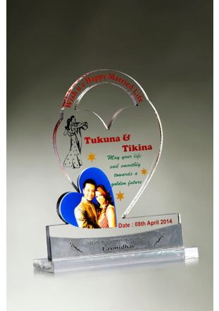 Shop Heart Shape Acrylic Plaque: Gitanjali Awards
