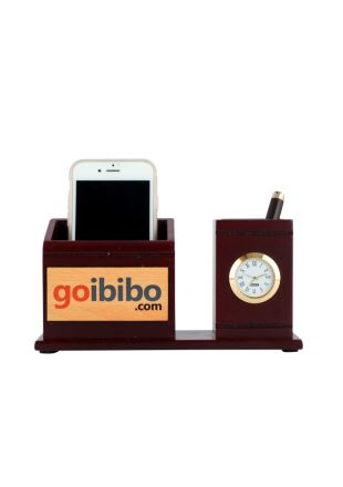 Wooden Pen Stand with Mobile Stand Gift